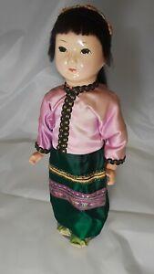 Asian-Composition-Doll-Circa-1960-039-s-12-034-Tall