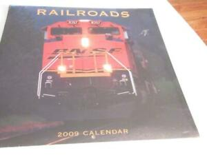 RAILROADS-2009-CALENDAR-STILL-SEALED-NEW-M6