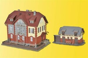 Kibri-39315-Ferroviario-Casa-con-Andamios-y-Anexo-Kit-Construccion-H0