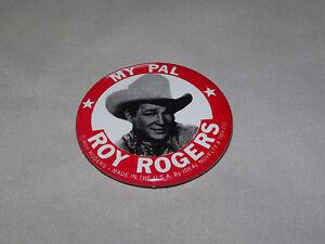 VINTAGE-1950S-COWBOY-MY-PAL-ROY-ROGERS-PINBACK-BUTTON-NICE