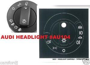 AUDI HEADLIGHT DECALS STICKERS REPAIR for Audi A4 B6;B7 /A6
