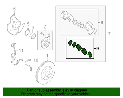 KP Front Brake Pad Set for Hyundai Sonata Kia Soul Opitima 58101-1FA50