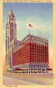 OH POSTCARD W_6564 THE DESHLER-WALLICK HOTEL/AM INS UNION
