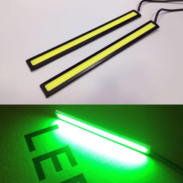 2 X Green Super Bright COB LED Light DRL Fog Driving Lamp Waterproof ...