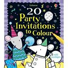 20 Party Invitations to Colour by Usborne Publishing Ltd (Cards, 2011)