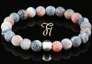 Achat-925er-sterling-Silber-Armband-Bracelet-Perlenarmband-rot-bunt-8mm