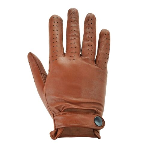 MENS REAL LEATHER TOP QUALITY PADDED PALM VENTED DRIVING GLOVES
