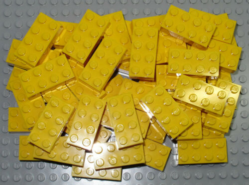 LEGO Bricks   2x4 x 50 pcs Yellow Brand New