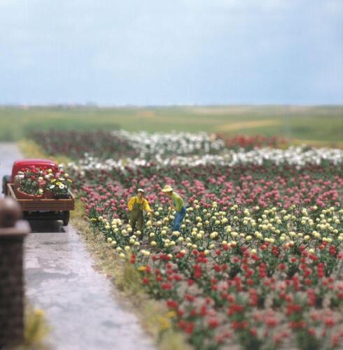 BUSCH 1205; Kit pour environ 120 Roses de cinq couleurs différentes NOUVEAU OV
