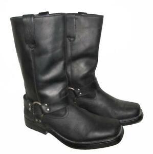 034-WRANGLER-034-Western-Stiefel-Lederstiefel-Biker-Boots-schwarz-ca-Gr-42-5