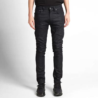 Hart Arbeitend Nudie Herren Slim Fit Jeans | Lean Dean Dry Deep Dark |w31 L32 |b-ware