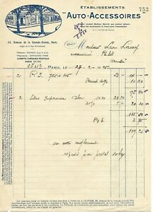PARIS-FACTURE-DE-1925-AUTOS-ACCESSOIRES-ACCESSOIRES-ET-PNEUS-POUR-AUTOS