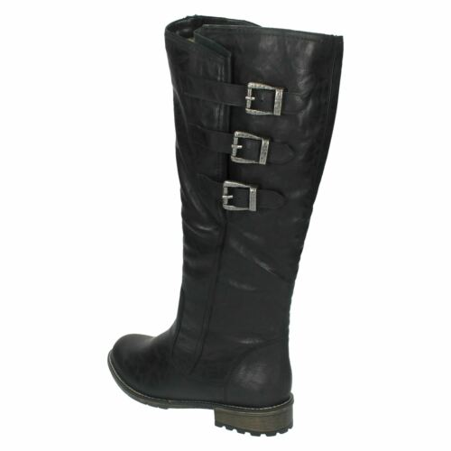 Long Casual Ladies Boots With Warm Black Vaviable R3370 Leg Remonte Lined w1txtf4Yq