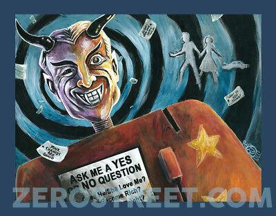 Lowbrow Art Print Twilight Zone Mystic Seer TV Horror Fortune Teller