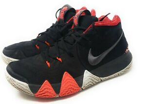 Nike-Kyrie-4-For-The-Ages-943806-005-Men-039-s-size-9-Great-Shape-RARE-RED-BLACK