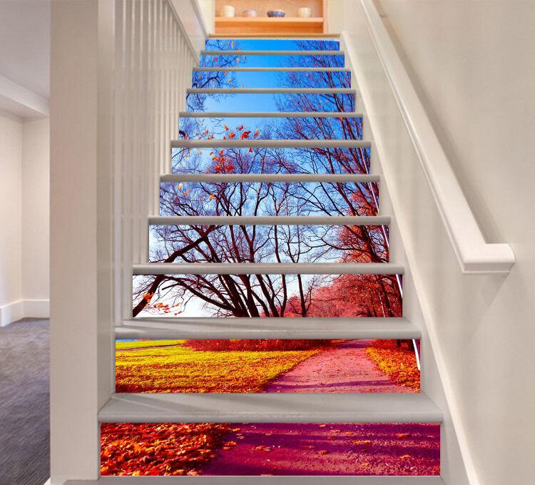 3D Farbeful sight 6 Stair Risers Decoration Photo Mural Vinyl Decal WandPapier AU
