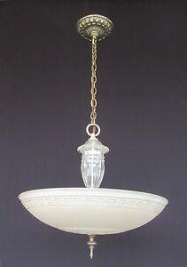 Vintage Chandelier, Rewired & Restored (Ceiling Light Fixture Lamp ...