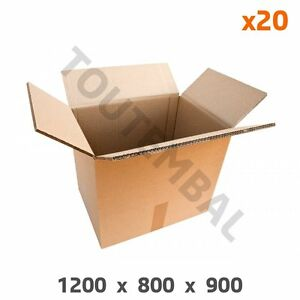 100% De Qualité Caisse Conteneur En Carton Triple Cannelure 1200 X 800 X 900 Mm (par 20) Suppression De L'Obstruction
