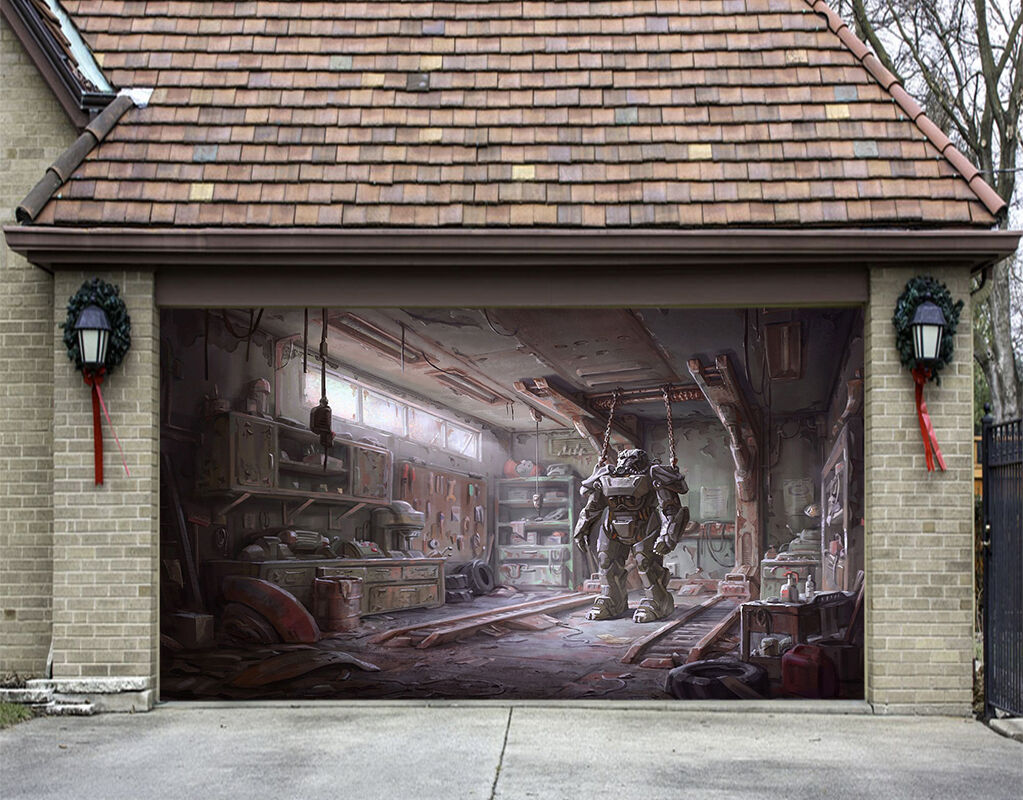 3D Robot Camera 23 Garage Porta Stampe Parete Decorazione Murale AJ WALLPAPER IT