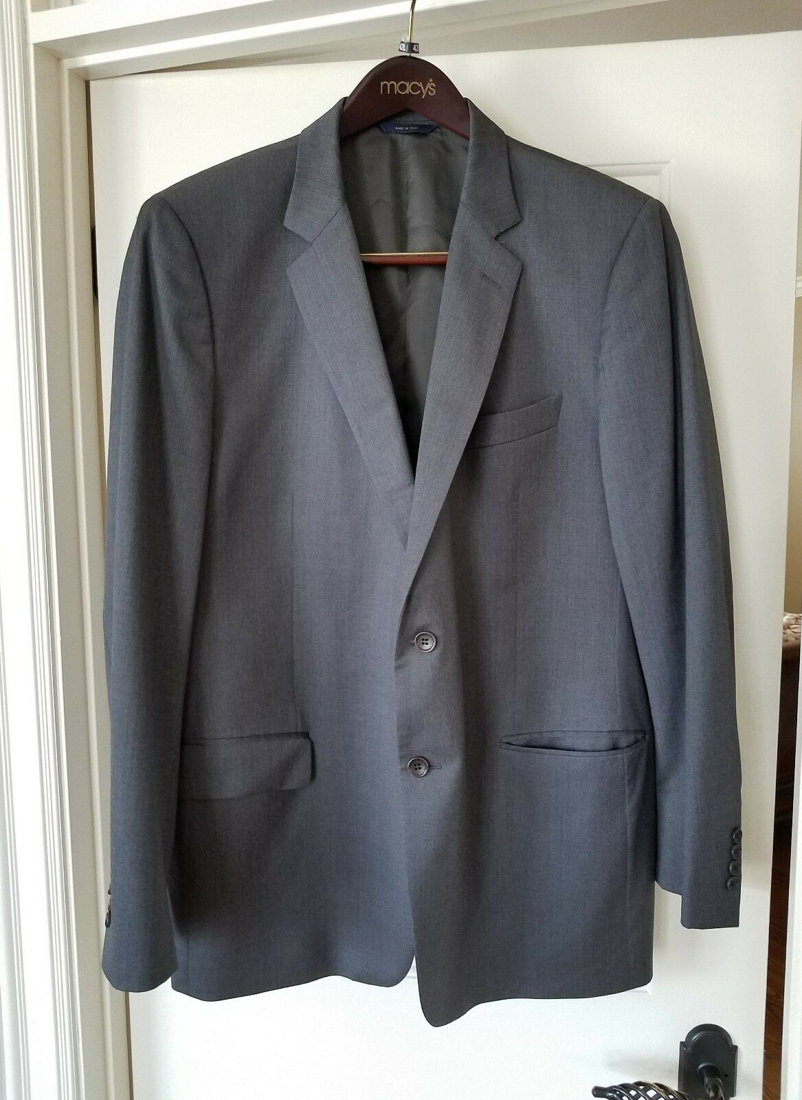BROOKS BROTHERS 1818 Fitzgerald 100% Wool 48 Long grau Sport Coat Made In