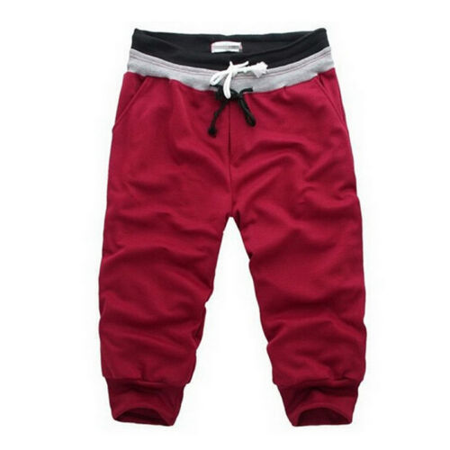 Mens Loose 3//4 knee Jogger Shorts Casual Gym Trousers Harem Pants Sport short SE