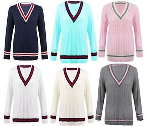 NEW-LADIES-CABLE-KNITTED-CARDIGAN-WOMENS-V-NECK-CRICKET-JUMPER-PLUS-SIZE-16-26
