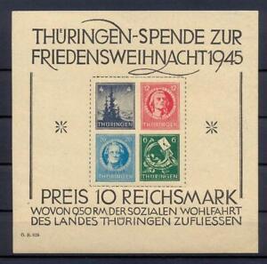 SBZ-Block-2-t-Thueringer-Weihnachtsblock-Originalgummi-mit-Erstfalzrest-us188