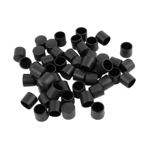 7X 50 Stueck Schwarz Gummi PVC Flexibel Rundes Endkappe rundes 12mm Fuss Abde W8