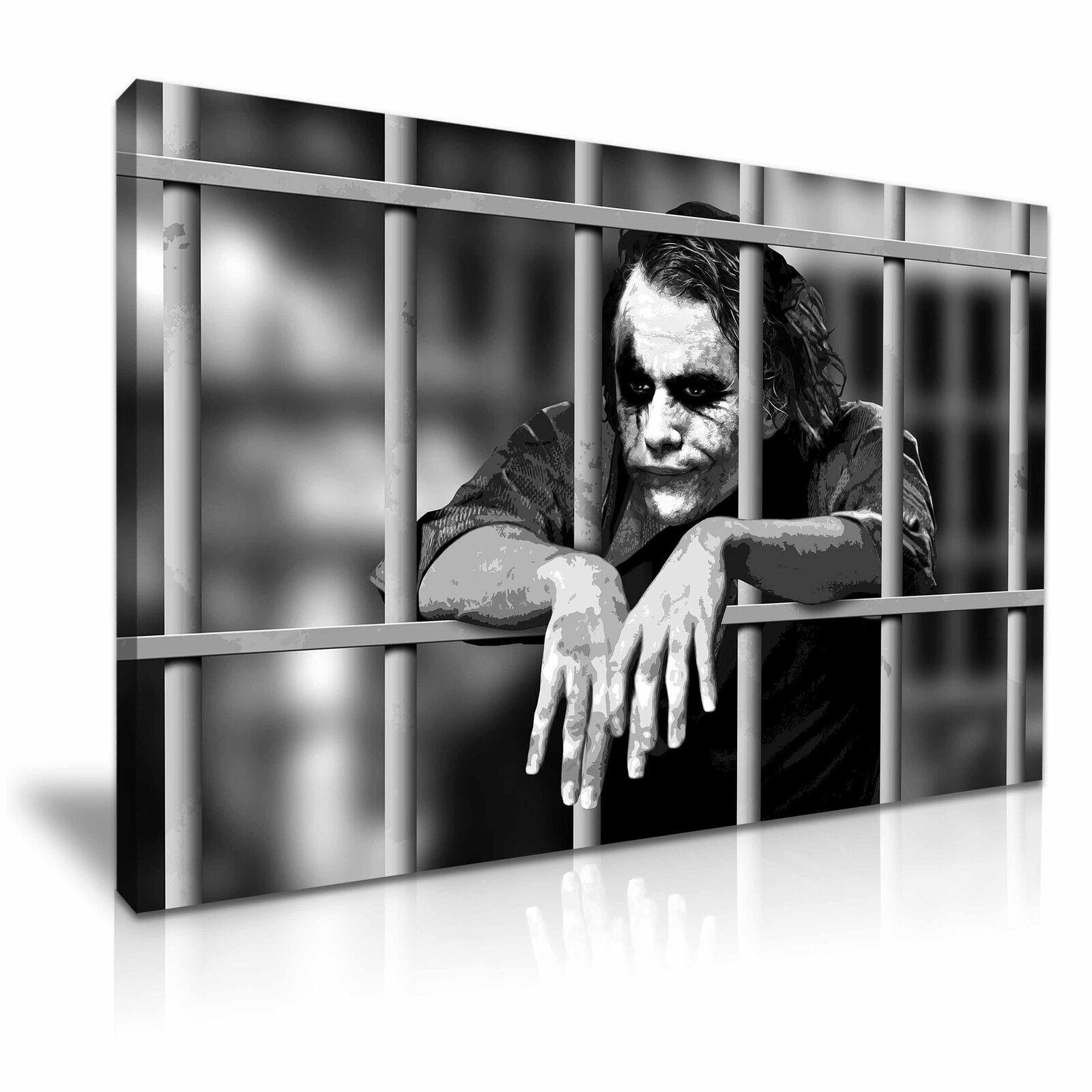 Joker noir et ~ blanc toile murale art photo print ~ et 9 tailles 43994a