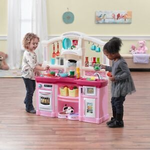 Details About Play Kitchen Set Accessories Kids Food Dishes Toddlers Preschool Pink Girls New
