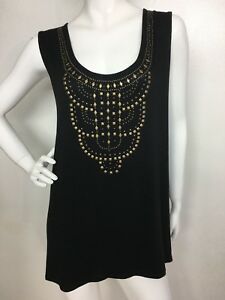 46bff7e797e Details about Rose   Olive New Women s Black Sleeveless knit Tank Top  Blouse Plus Size 3X NWT
