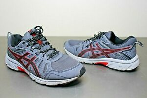 ASICS-Men-039-s-GEL-Venture-7-Trail-Running-Shoes-Sneakers-Sz-9-5-Gray-Red-1011A560