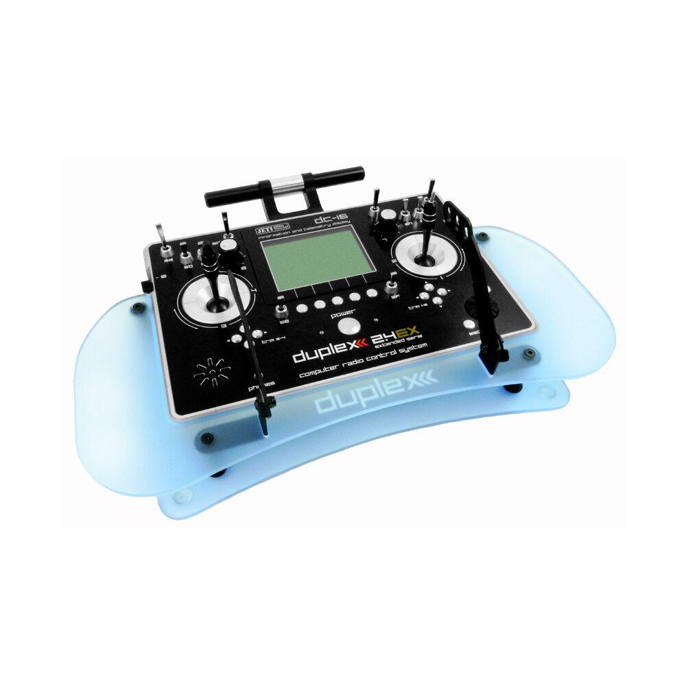 Duplex 2.4ex acryl-pult AZUL para emisor dc-16 dc-14 dc-24 jetimodel 80001534