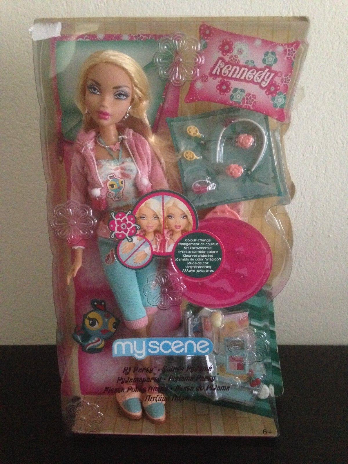 Barbie My Scene PJ Fiesta Kennedy Rubia Muñeca duro encontrar nuevas