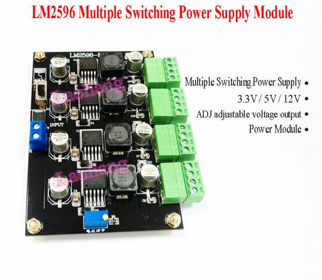 LM2596 Multiple Switching Power Supply Modul 3.3V 5V 12V ADJ Adjustable Output D