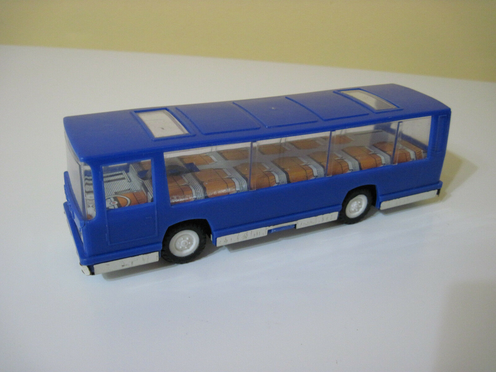 Germany DDR Vintage Tin & Plastic Friction Toy - Tourist Bus (Bison)