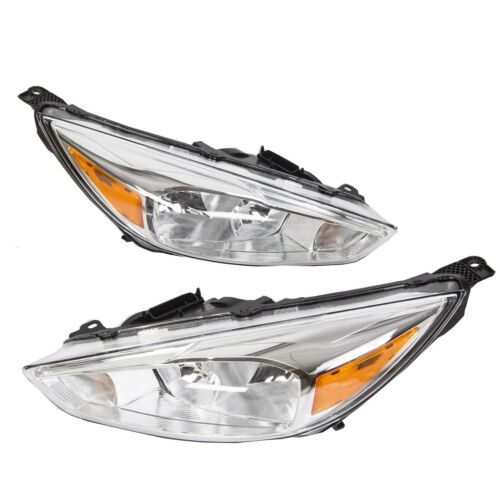 For 2015-2018 Ford Focus Headlights Lights Headlamps Lamps 16 17 18 Left+Right