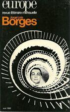 REVUE LITTERAIRE EUROPE N° 637 - JORGE LUIS BORGES