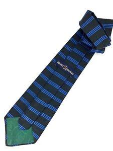 6f95f5d9 New TOMMY HILFIGER TIE Black & Blue Stripes Silk Men's Neck Tie ...