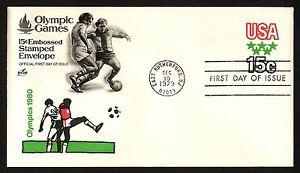 #U596 15c 1980 Olimpiadas, Arte Artesanía FDC Cualquier 5=