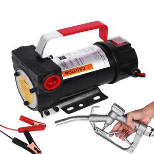 JDMSPEED Portable Electric Fuel Transfer Pump 12V DC