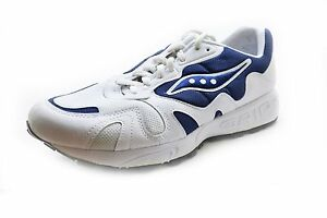 new arrival 609e5 d42b1 Details about Saucony Men's Grid Jazz Running Shoes White/Navy Blue Size  11.5 MED - NIB