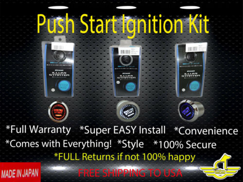 HONDA LED Push Start Button Mugen Ignition Starter Kit Free USA Shipping-NEW