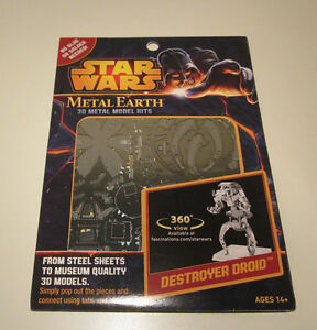 Details about Metal Earth Destroyer Droid Star Wars 3D Laser Cut  Fascinations Authentic - NEW