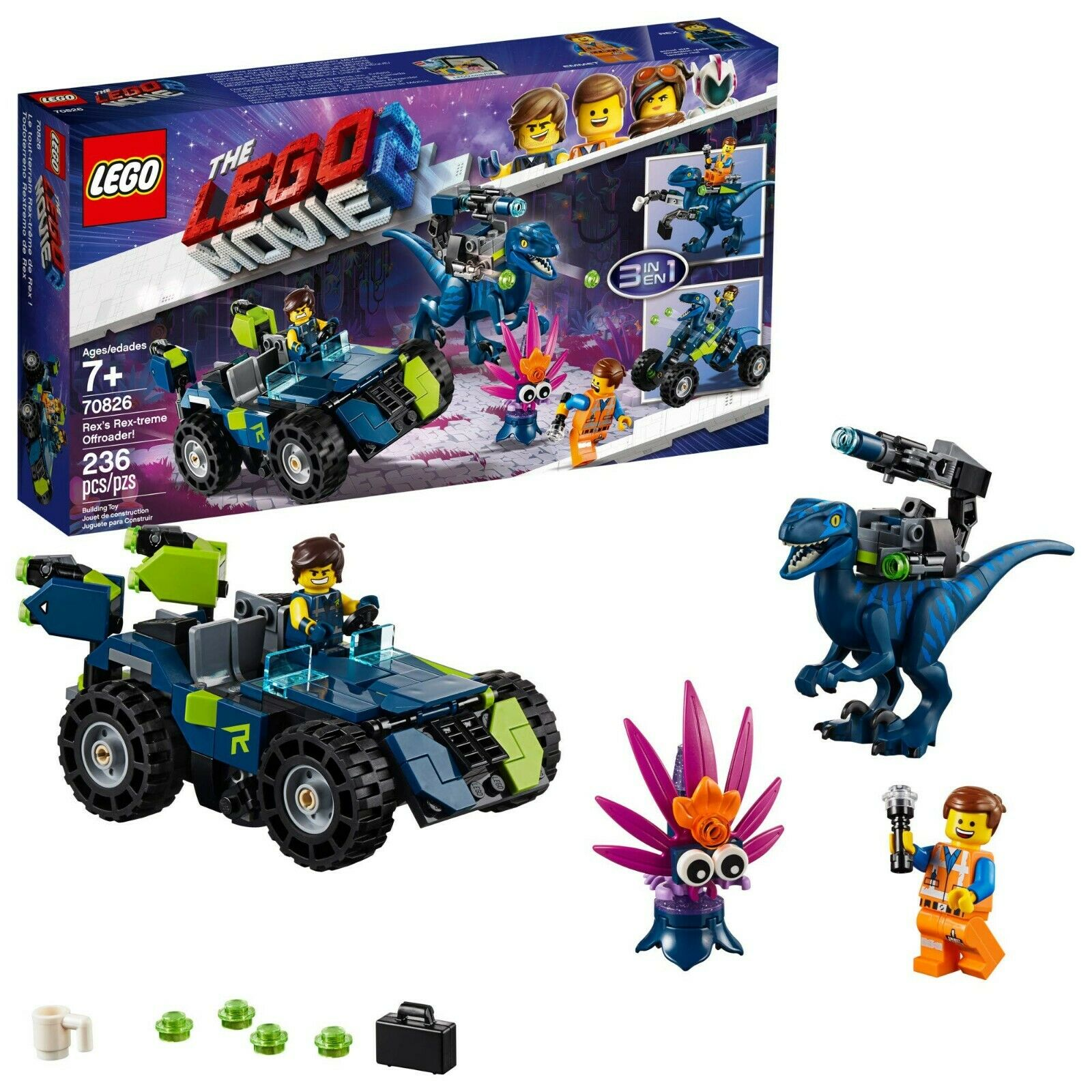 LEGO THE LEGO MOVIE 2 Rex's Rex-treme Offroader    70826 Dinosaur Car Toy Set 5cad4b