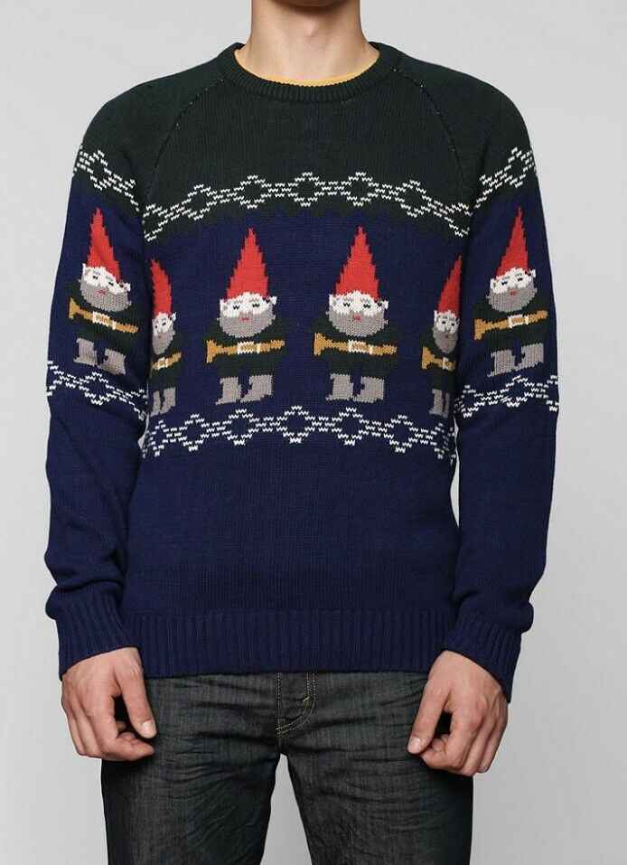 Urban Outfitters Gnomes Ugly Christmas Sweater XL Xmas Character Hero Men's