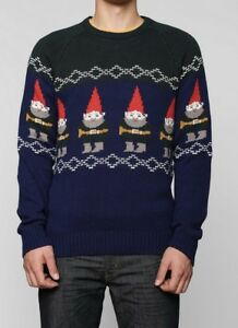 Urban Outfitters Ugly Christmas Sweater.Details About Urban Outfitters Gnomes Ugly Christmas Sweater Xl Xmas Character Hero Men S
