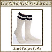 Lederhosen German Bavarian Oktoberfest Trachten Black Stripes Mens Socks Pair
