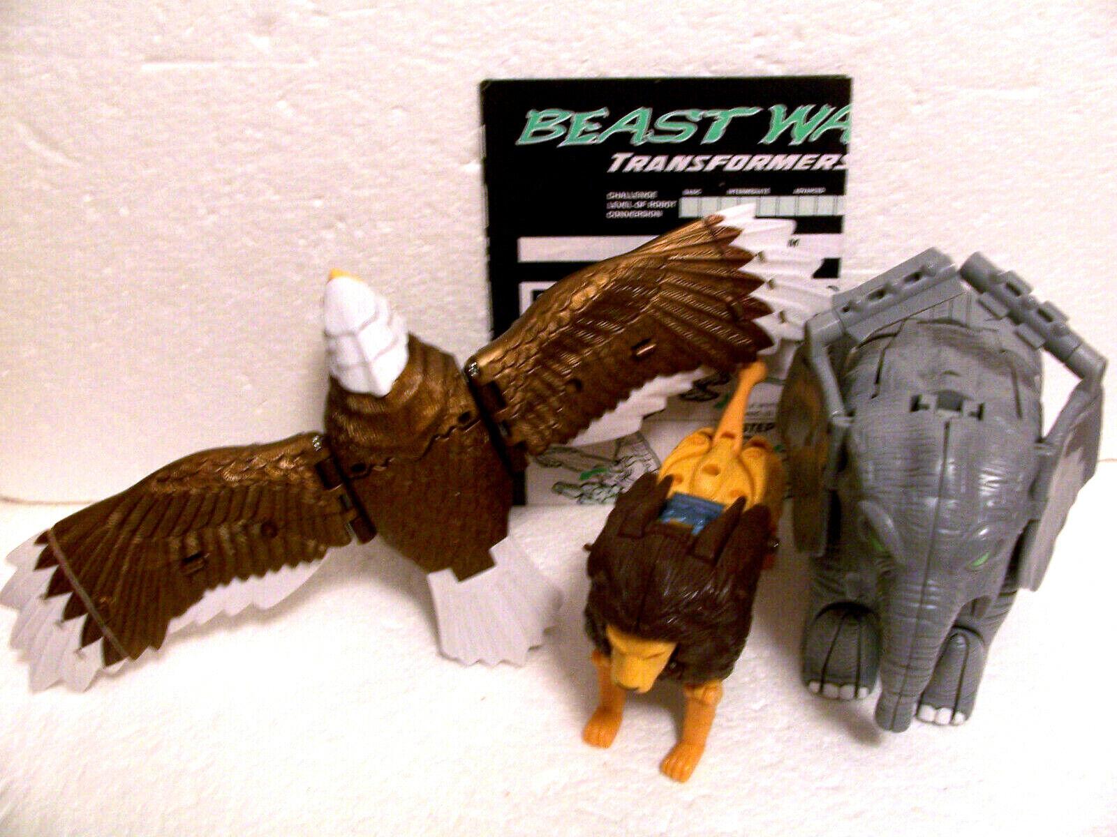 Beast Wars  vintage combiner Magnaboss UNBROKEN complete part lot gestalt