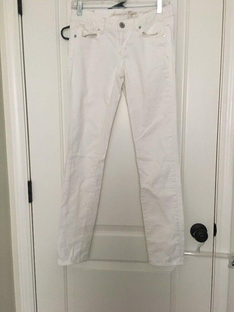 American Eagle Stretch White Jeans Pants Women's Sz 2 White Clothes